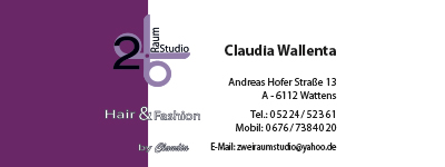 2 Raum Studio Hair & Fashion – Wallenta Claudia